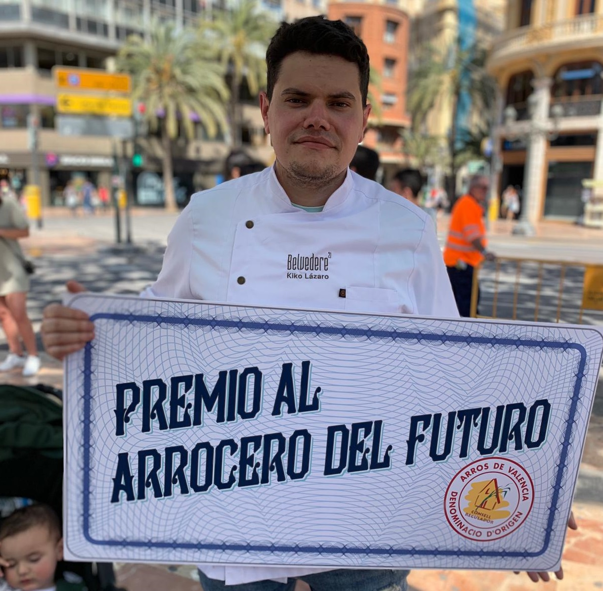"Kiko Lázaro Named ""Rice Chef Of The Future"" By The Arroz De Valencia Designation Of Origin"